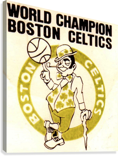1981 Boston Celtics World Champions Art Reproduction  Canvas Print